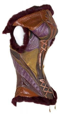 tawnyscostumesandcuriosities: Patchwork hooded corset
