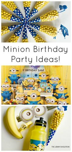 Minion Theme Birthday Party Ideas and Decorations | The Jenny Evolution