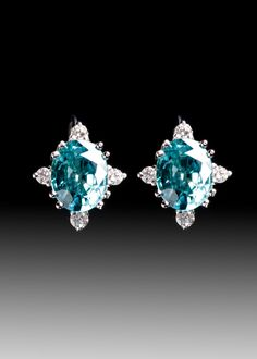 JPratt Designs: Custom designed and created Colored Stone Earrings with diamond accents