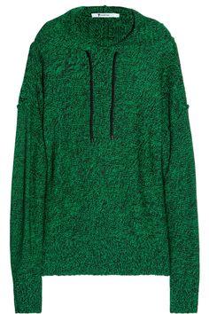 T by Alexander Wang|Knitted hooded sweater|NET-A-PORTER.COM