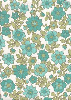 Tunturikukka Print Patterns, Retro Print, Textiles, Bujo, Green, Fabric, Graphics, Wallpapers, Vintage