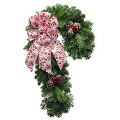 """22"""" Candy Cane Sweetie.  This wreath and many more found at  http://www.christmasforest.com/wreaths.   For easy fundraising, please go to: http://www.christmasforest.com/fundraising Needing ornaments? Please visit us at: http://www.ornaments.com/"""