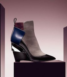 0cd3b34e6a81 an elegant patchwork ankle boot with a modern architectural heel.  boots   columbusDay Jimmy. Jimmy Choo ShoesShoe ...