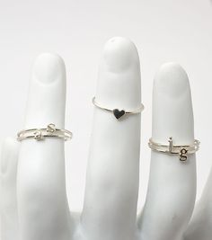 stackable inital rings...so cute and dainty!