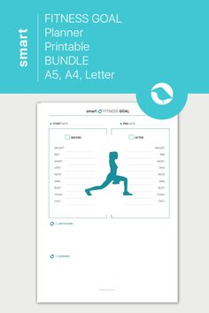 Health Planner, Fitness Planner, Fitness Goals, Goals Planner, Weekly Planner, Health Goals, Health And Fitness Tips, Printable Planner, Printables