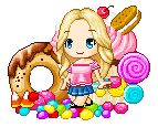 kawaii pixel girl | Cupcake 'n' Candy Board (Fantage) by Cutie-Kawaii-Sweetie