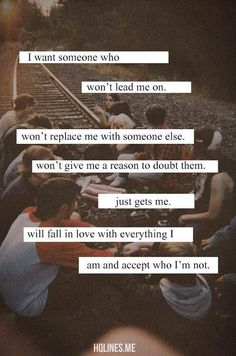 I dont want to be replaced.