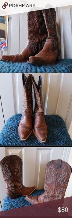 Boots Cowgirl boots, 9 1/2, only worn a few times. Ariat Shoes