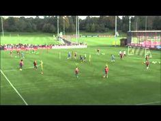 Fussball Training mit der U19 FC Schalke 04 - Passspiel im Kreis - YouTube