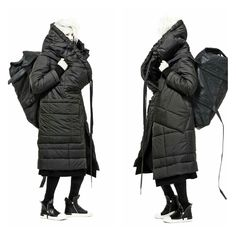 BARBARA I GONGINI oversized padded coat