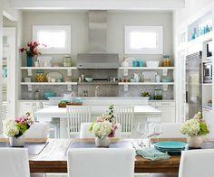 Coastal Style: Beach House Kitchen