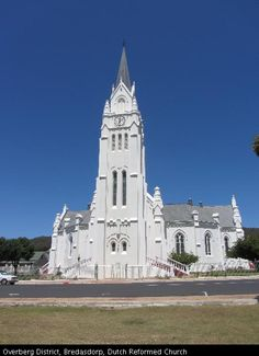 Bredasdorp NG Kerk Church Architecture, Church Building, Place Of Worship, Old Buildings, South Africa, Landscape Photography, Dutch, Cathedrals, Towers