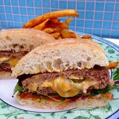 Jalapeño Popper Turkey Burgers