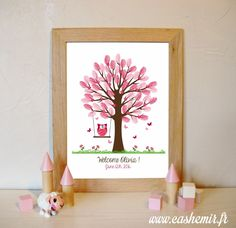 Items similar to Fingerprint tree for baptism or baby shower, perfect to a personalized gift / Thumbprint art / Guestbook girl / Printable file on Etsy Baby Crafts, Boy Shower, Baby Shower Decorations, Communion, Home Deco, Baby Love, First Birthdays, Kids Room, Happy Birthday