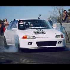 Local Honda action at the drag strip ( awd civic / awd crx/ s2000 inside ) #Honda #civic #hondacivic #hondalife #hondalove #car