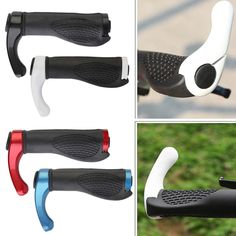 1 Pair Anti-slip Road Cycling Mountain Bike Grips Rubber and Aluminum Alloy Integrated mtb Handle Bicycle Handlebar Newest #Affiliate