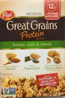 Great Grains Protein Blend – Honey, Oats & Seeds cereal sold at Walmart Recalled