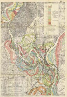 Map Porn – Mississippi Meander Maps