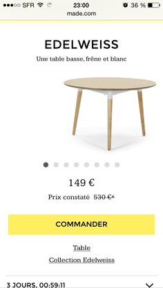 1000 ideas about table ronde bois on pinterest table - Table basse etroite ...