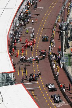 The pits, #Monaco #F1 Grand Prix