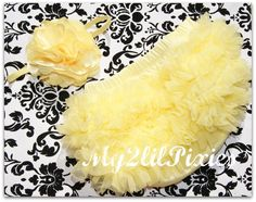 SALE ALL BLOOMERS Perfect Photo Prop Set-  Sunshine Yellow Bloomer Set You Choose your Size and Matching Headband. $15.00, via Etsy.