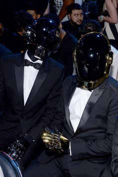 Daft Punk at the 56th Annual GRAMMY Awards on Jan. 26 in Los Angeles