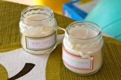 Soy Candle Place Cards