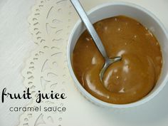 Caramel sauce made from nothing but fresh-pressed apple juice and coconut oil or coconut butter. I HAVE to try this.