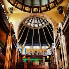 Inside Museo Bellas Artes in Mexico City. Art Deco Glamour.
