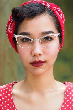 A personal favorite from my Etsy shop https://www.etsy.com/listing/254318166/vintage-eyeglasses-cat-eye-frames