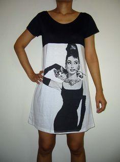 Audrey Hepburn Dress Audrey Hepburn Shirt Women Tank Tops White Shirt Tunic Top Vest Sleeveless Women T Shirts Singlet Mini Dress Size S M by bellacloths on Etsy https://www.etsy.com/listing/106606805/audrey-hepburn-dress-audrey-hepburn