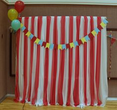 Vacuuming in high heels & pearls: Youth Conference carnival-themed decorations