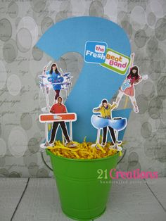 Fresh Beat Band Centerpiece by 21CreationsToo on Etsy