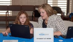FLVS students demonstrate the diverse online experiences available to them at the Florida Virtual School Day at the Capitol.