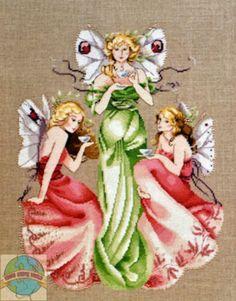 Cross Stitch Chart / Pattern ~ Mirabilia Three For Tea Beautiful Fairies #MD37