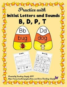 Do your students have difficulty with writing b and d correctly or getting the sounds of b and p, or d and t confused? I see this frequently with struggling readers and dyslexic students. This resource is designed to give the students plenty of practice with the letters and sounds to ease the confusion! Just laminate the puzzles and cut them apart for a center or small group work, then use the follow-up worksheets for additional practice. P Words, Reading Tutoring, Initial Sounds, Upper And Lowercase Letters, Struggling Readers, Beginning Sounds, Emergent Readers, Speech Therapy Activities, Learning Letters