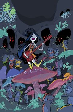 Hora de Aventuras Portada de Marceline and the Scream Queens.