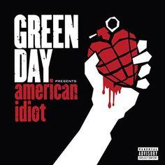 """L'album dei #GreenDay intitolato """"American Idiot"""" su doppio vinile splatter in grigio include un poster."""