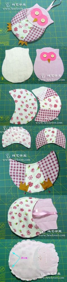 Owl hanging pocket. Link does not take you to the proper site. Go to www.SewLover.com