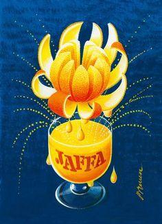 Erik Bruun, Jaffa orange soft drink advertising poster