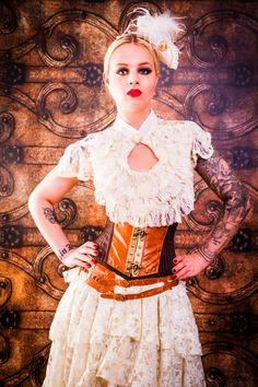 Burleska Cream Dita Top - £24.99 : Angel Clothing   Gothic and Steampunk Clothing