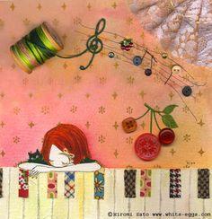 Piano, textiles