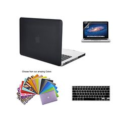"""MacBook Pro 13"""" Case Tecool(TM) 3 in 1 Ultra Slim Multi Colors Soft-Touch Plastic Hard Case Cover, Silicone Keyboard Cover and Screen Protection for MacBook Pro 13"""" Model: A1278(Black) TECOOL http://www.amazon.com/dp/B00PKBZWB6/ref=cm_sw_r_pi_dp_ju4lwb1DN2W3B"""