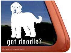 Goldendoodle window decal.