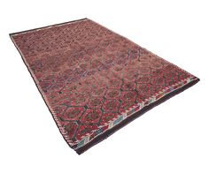 "Anatolian Hexagonal Lattice Kilim in Shades of Rose 6'2"" x 9'3"" Perspective"
