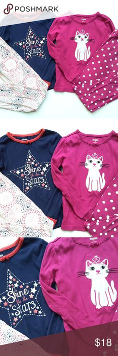 Gymboree Girls Pajamas Gymmies Lot Winter 8 Gymboree Girls Pajamas Gymmies Lot Winter Long John Kitty Star   Size:  8  Condition: VGUC  My items come from a smoke-free household, we do have a kitty, so an occasional hair may occur! Gymboree Pajamas Pajama Sets