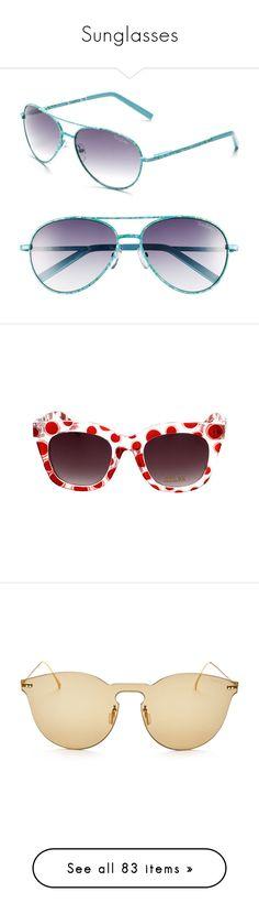 """Sunglasses"" by singlemom ❤ liked on Polyvore featuring accessories, eyewear, sunglasses, glasses, embellished sunglasses, mirrored lens sunglasses, lens glasses, acetate glasses, oval sunglasses and aviator style sunglasses"