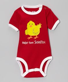 Take a look at this Red 'Made From Scratch' Bodysuit - Infant by Lazy One on #zulily today!