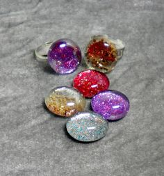 Happybird's Crafting Haven: Make Inexpensive And Sparkly Rings For Christmas! Great Teen Project!