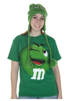 m&m costumes for adults | Green M&M Jumbo T-Shirt For Adults - M&Ms Costume T-Shirts